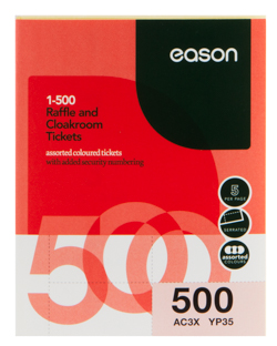 eason cloakroom tickets 1 500 school essentials stationery