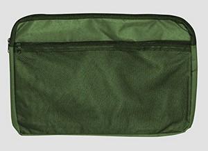 Canvas Zipper Bag A4 Asstd Cols