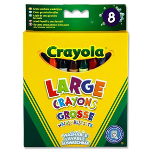 Crayola Pack 8 Washable Big Crayons  - June'15
