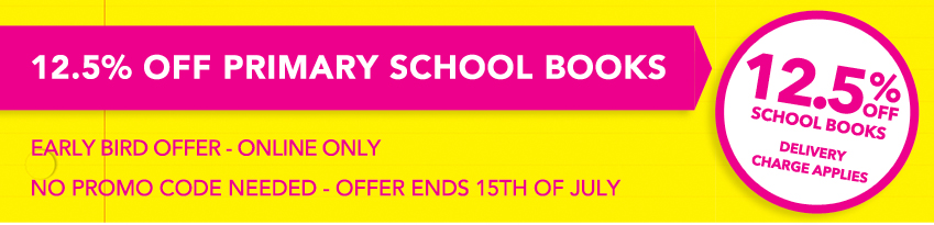 12.5% off primary school books eason