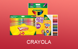 Crayola available at easonschoolboks including Twistables and pencils
